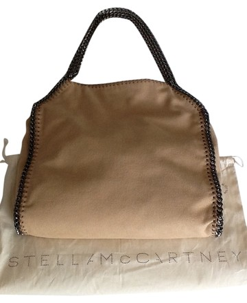 replica Stella McCartney Nude Falabella Shaggy Deer Small Tote with Silver Hardware Shoulder Bag
