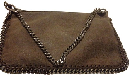 cheap Stella McCartney Gray Leather Falabella Wristlet
